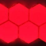 Sirio Red Lamp 10 pezzi accesa